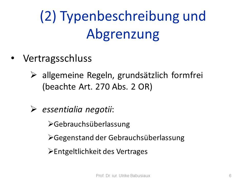 (2) Typenbeschreibung und Abgrenzung