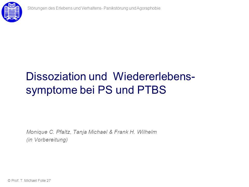 Dissoziation und Wiedererlebens-symptome bei PS und PTBS