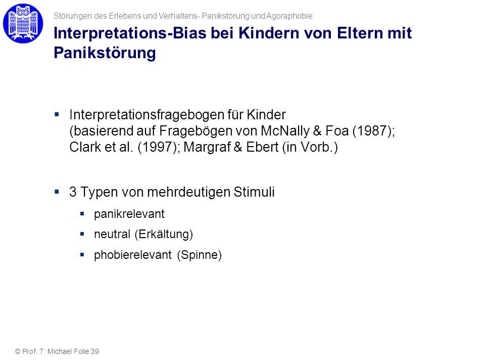 Interpretations-Bias bei Kindern von Eltern mit Panikstörung