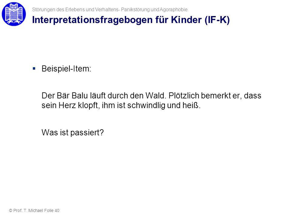 Interpretationsfragebogen für Kinder (IF-K)