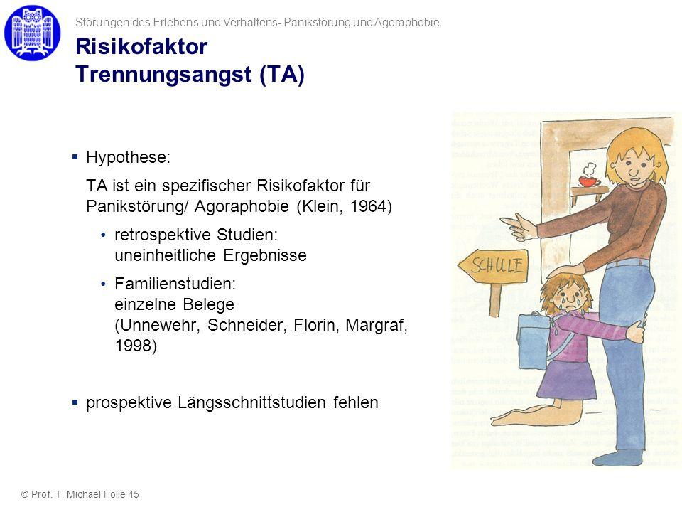 Risikofaktor Trennungsangst (TA)