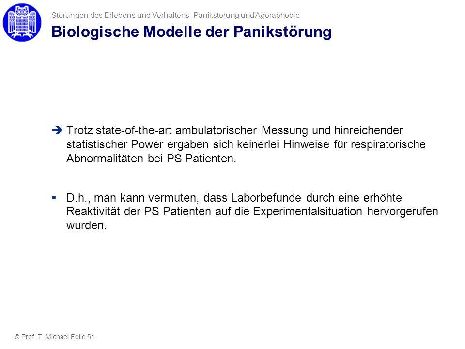 Biologische Modelle der Panikstörung