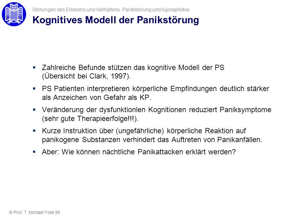 Kognitives Modell der Panikstörung