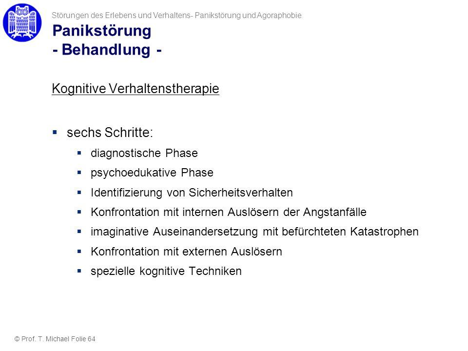 Panikstörung - Behandlung -