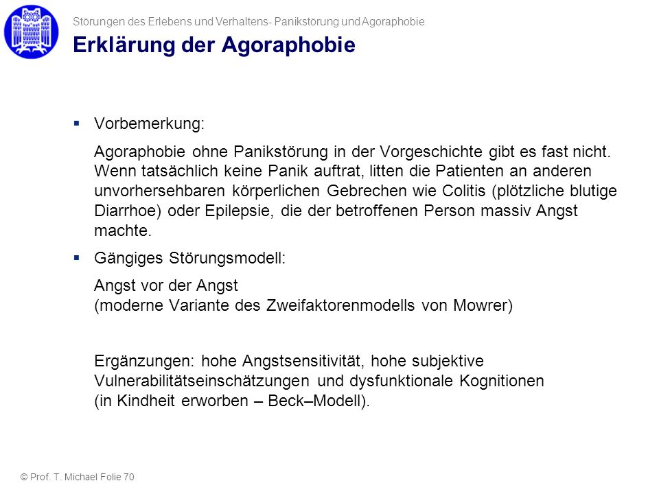 Erklärung der Agoraphobie