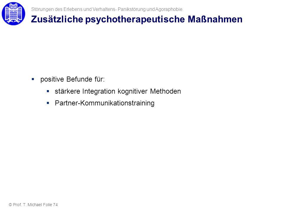 Zusätzliche psychotherapeutische Maßnahmen