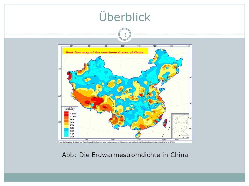 Abb: Die Erdwärmestromdichte in China