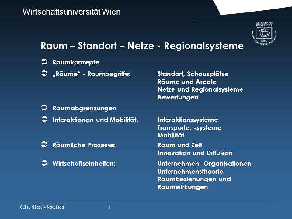 Raum – Standort – Netze - Regionalsysteme