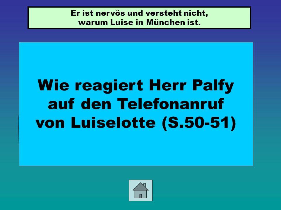 Wie reagiert Herr Palfy auf den Telefonanruf von Luiselotte (S.50-51)