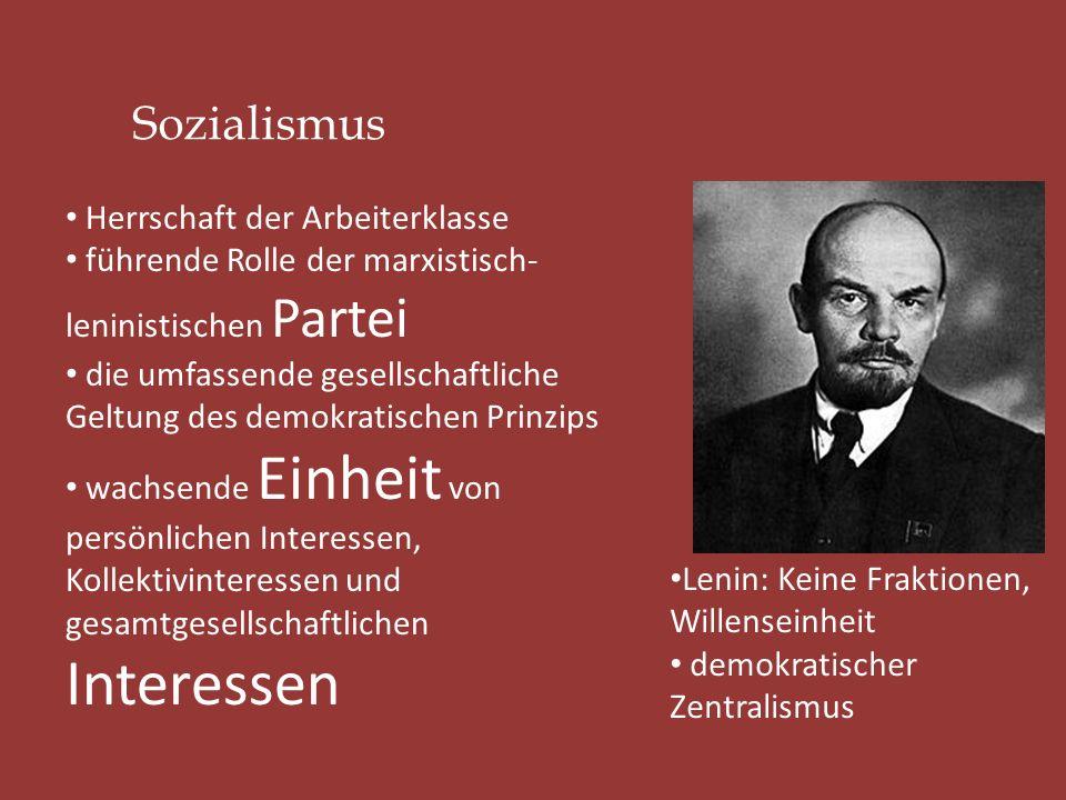 Sozialismus Herrschaft der Arbeiterklasse