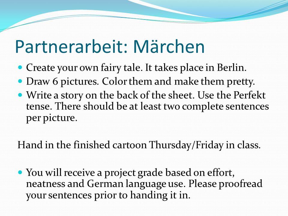 Partnerarbeit: Märchen