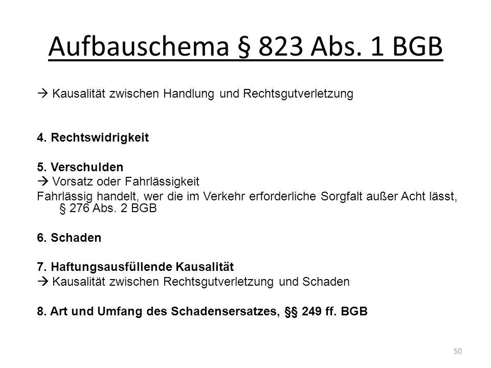 Aufbauschema § 823 Abs. 1 BGB