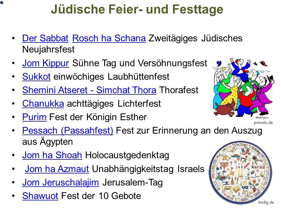 Jüdische Feier- und Festtage