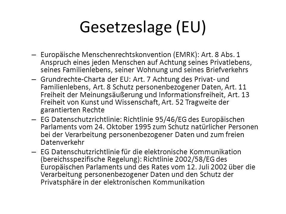 Gesetzeslage (EU)
