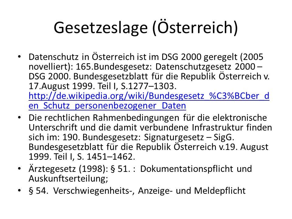 Gesetzeslage (Österreich)