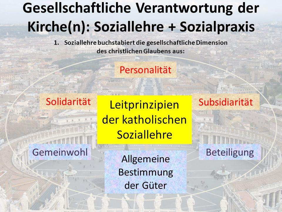 Gesellschaftliche Verantwortung der Kirche(n): Soziallehre + Sozialpraxis