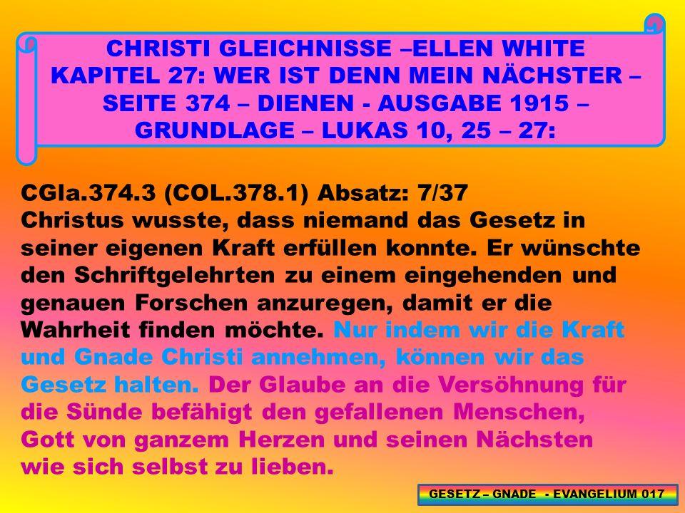 CHRISTI GLEICHNISSE –ELLEN WHITE