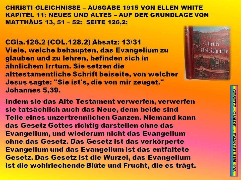 GESETZ – GNADE - EVANGELIUM 198