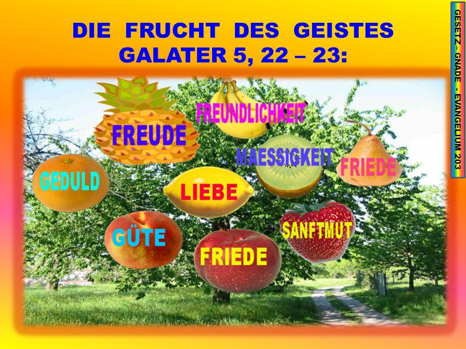 DIE FRUCHT DES GEISTES GALATER 5, 22 – 23: