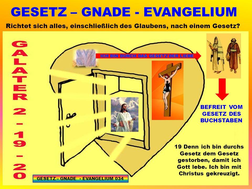 GESETZ – GNADE - EVANGELIUM ICH BIN DURCH DAS GESETZ DER LIEBE