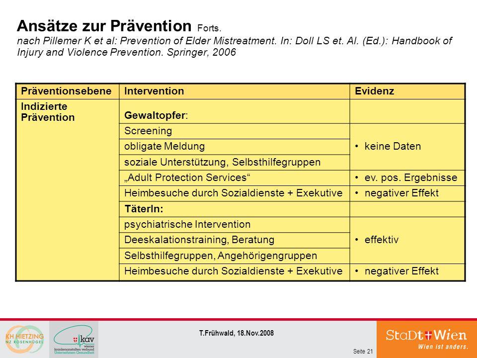 Ansätze zur Prävention Forts
