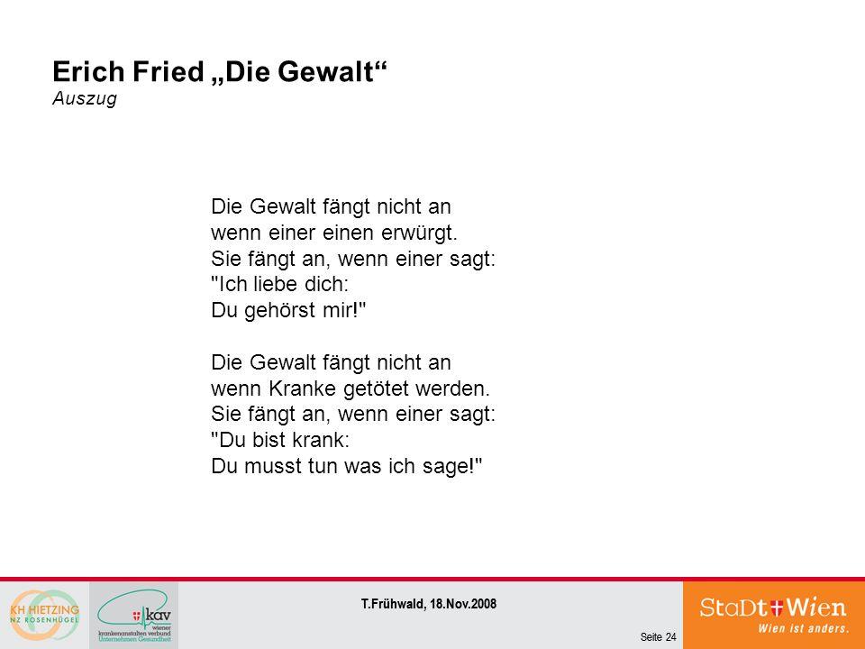 "Erich Fried ""Die Gewalt Auszug"