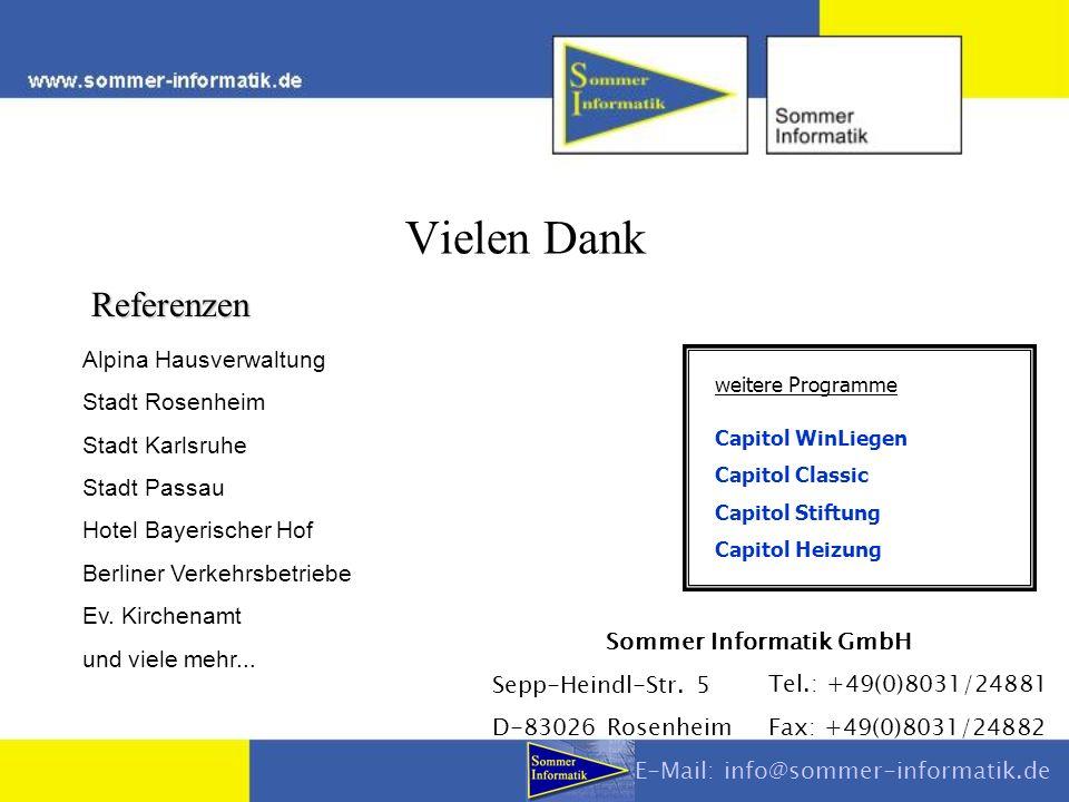 Vielen Dank Referenzen Alpina Hausverwaltung Stadt Rosenheim