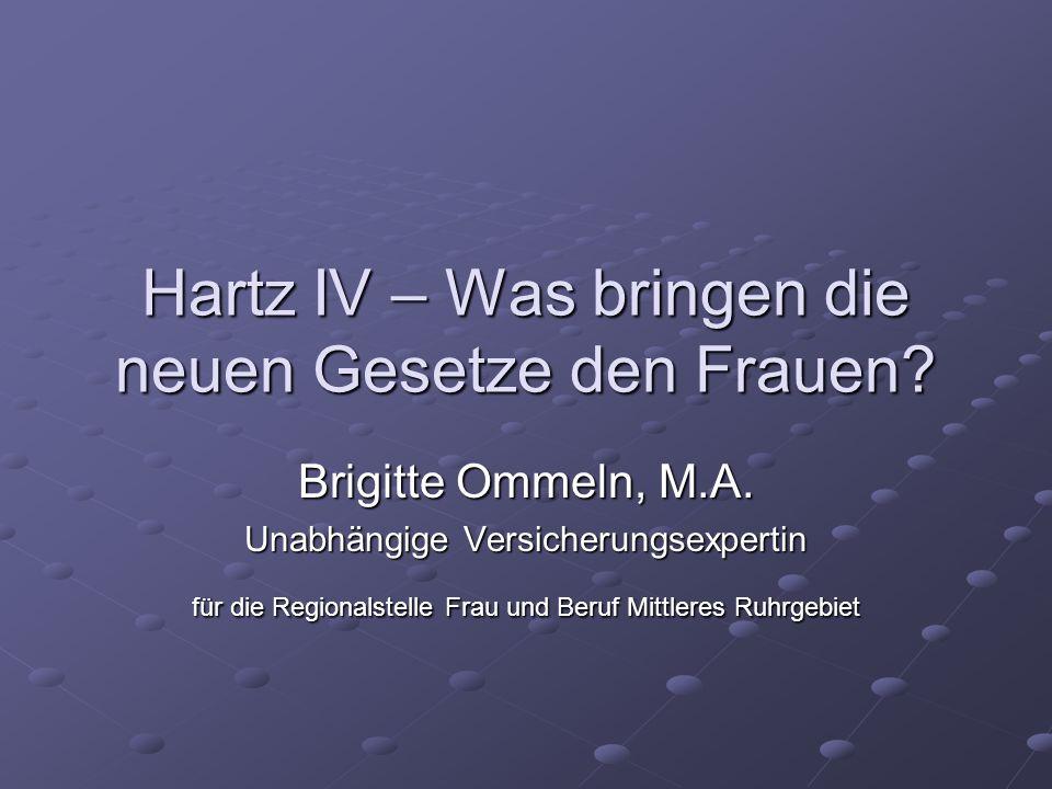 Hartz IV – Was bringen die neuen Gesetze den Frauen