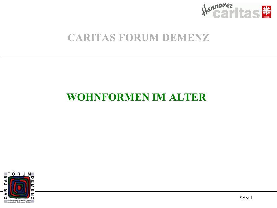 CARITAS FORUM DEMENZ WOHNFORMEN IM ALTER