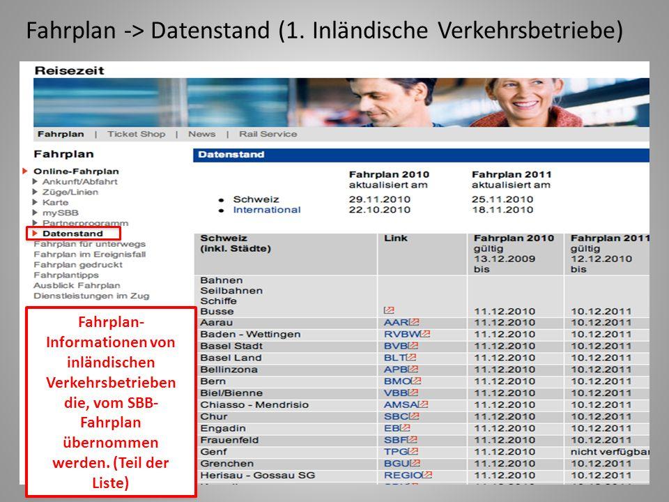 Fahrplan -> Datenstand (1. Inländische Verkehrsbetriebe)