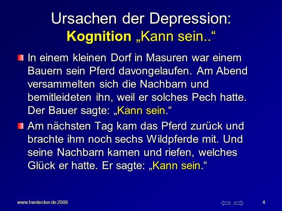 """Ursachen der Depression: Kognition """"Kann sein.."""