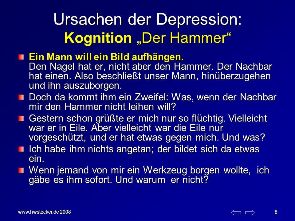 """Ursachen der Depression: Kognition """"Der Hammer"""