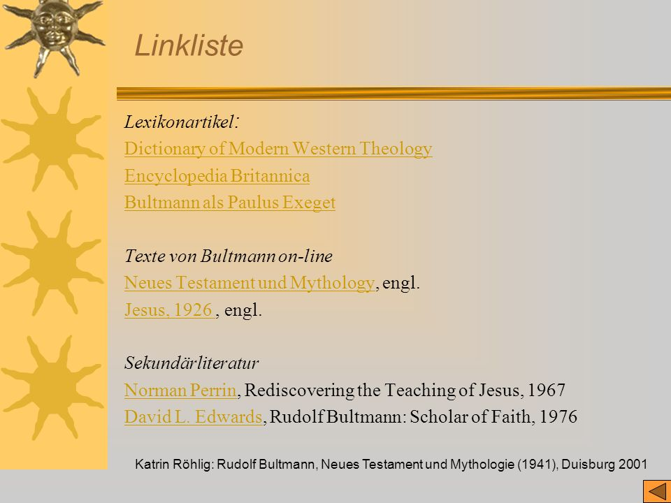 Linkliste Lexikonartikel: Dictionary of Modern Western Theology