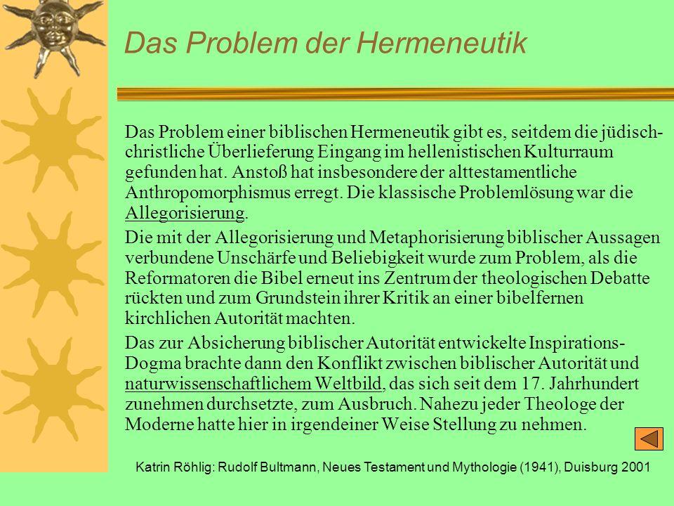 Das Problem der Hermeneutik