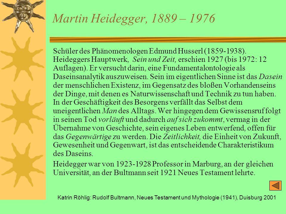 Martin Heidegger, 1889 – 1976