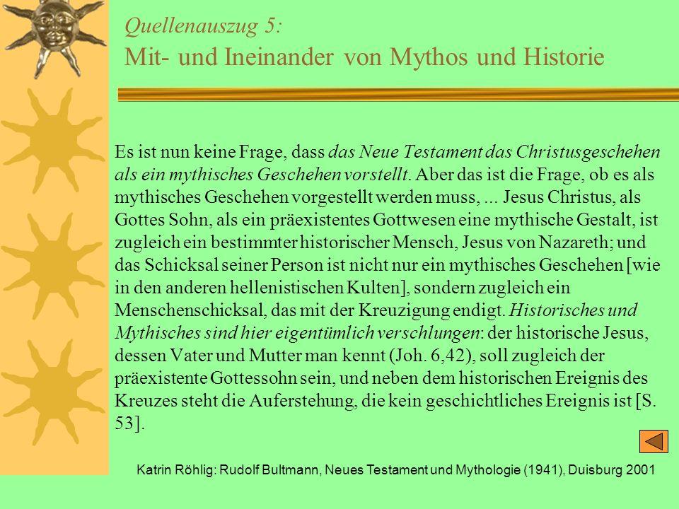 Quellenauszug 5: Mit- und Ineinander von Mythos und Historie