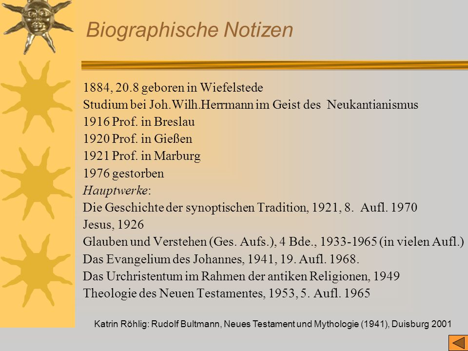 Biographische Notizen