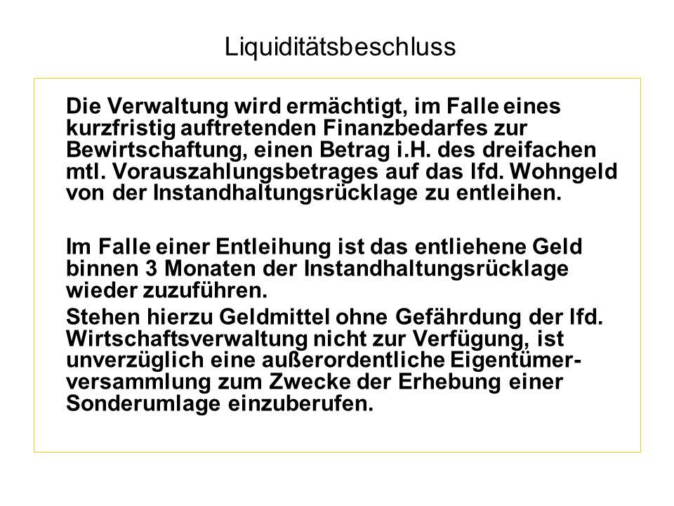 Liquiditätsbeschluss