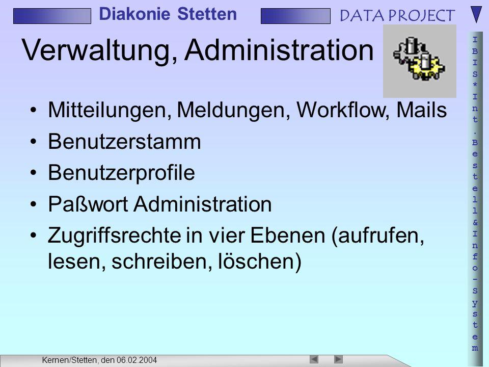 Verwaltung, Administration
