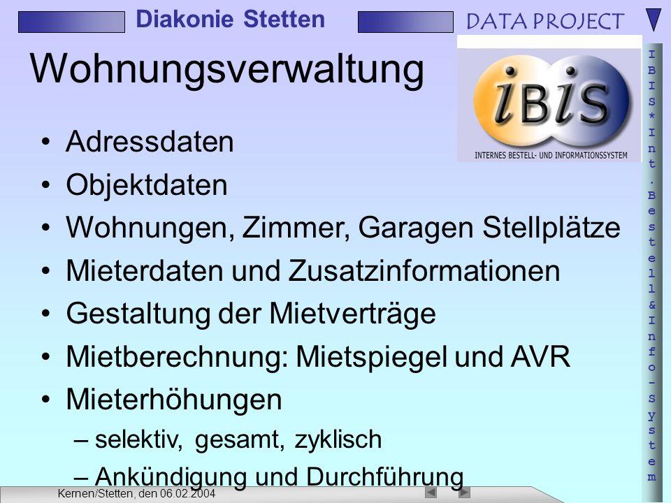Wohnungsverwaltung Adressdaten Objektdaten