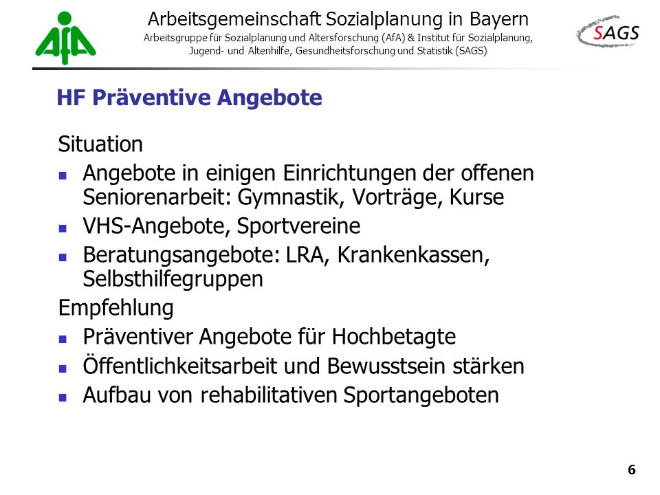 HF Präventive Angebote