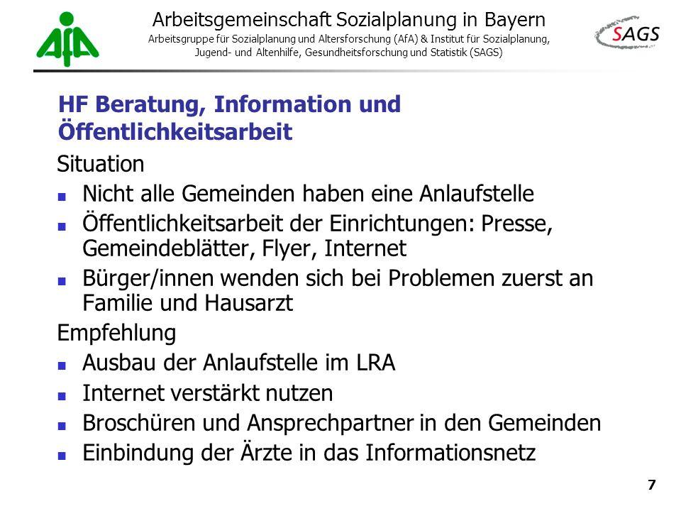 HF Beratung, Information und Öffentlichkeitsarbeit