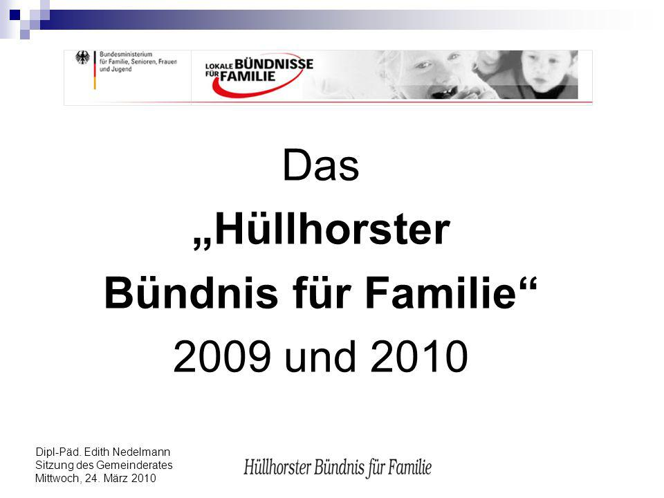 """""""Hüllhorster Bündnis für Familie"""