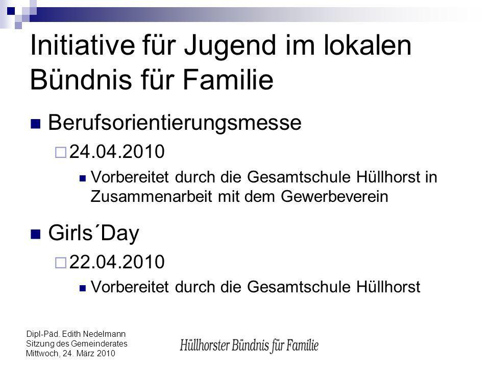 Initiative für Jugend im lokalen Bündnis für Familie