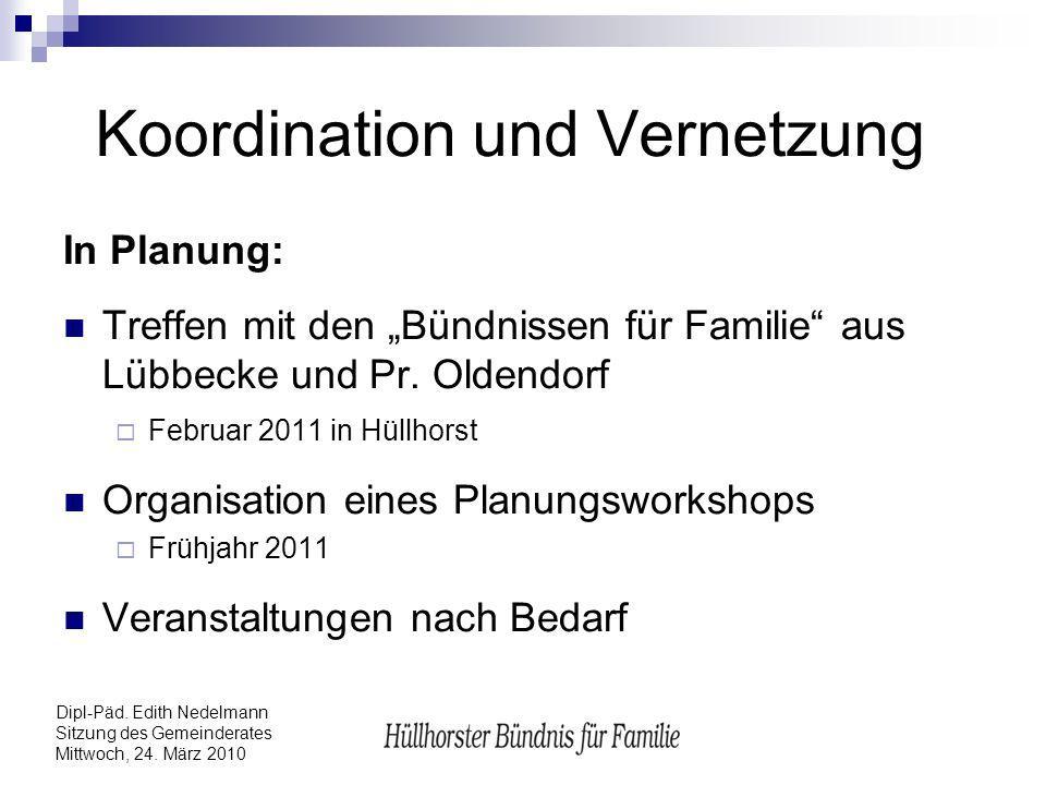Koordination und Vernetzung