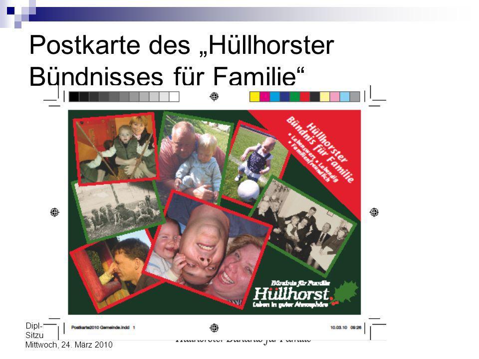 """Postkarte des """"Hüllhorster Bündnisses für Familie"""