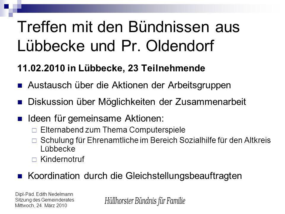 Treffen mit den Bündnissen aus Lübbecke und Pr. Oldendorf