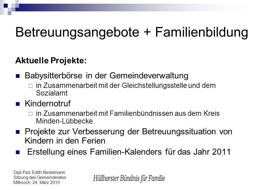Betreuungsangebote + Familienbildung
