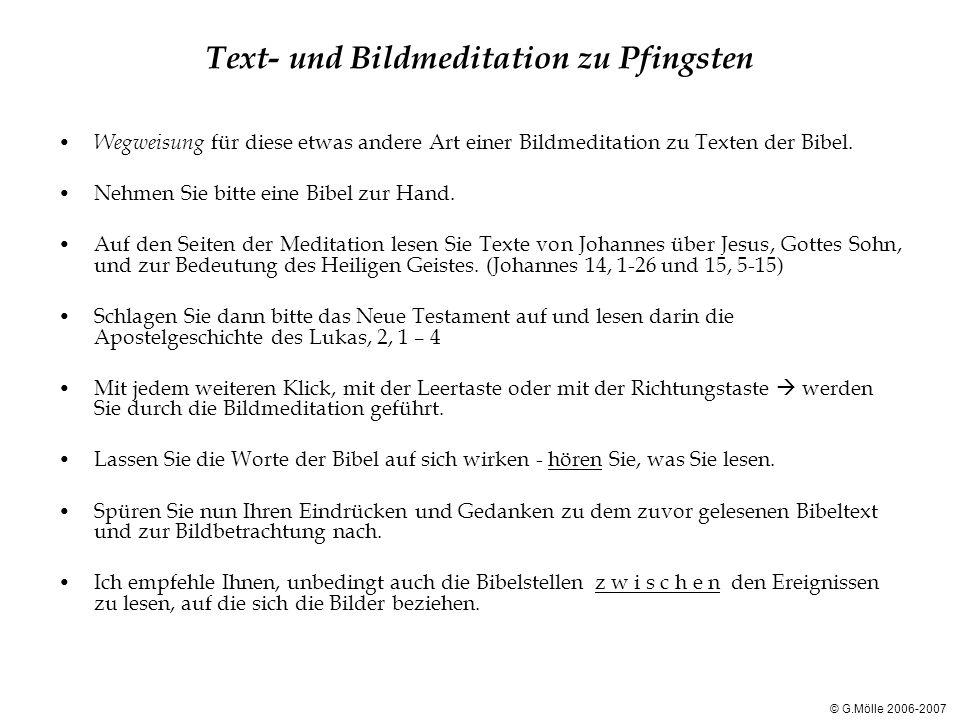 Text- und Bildmeditation zu Pfingsten