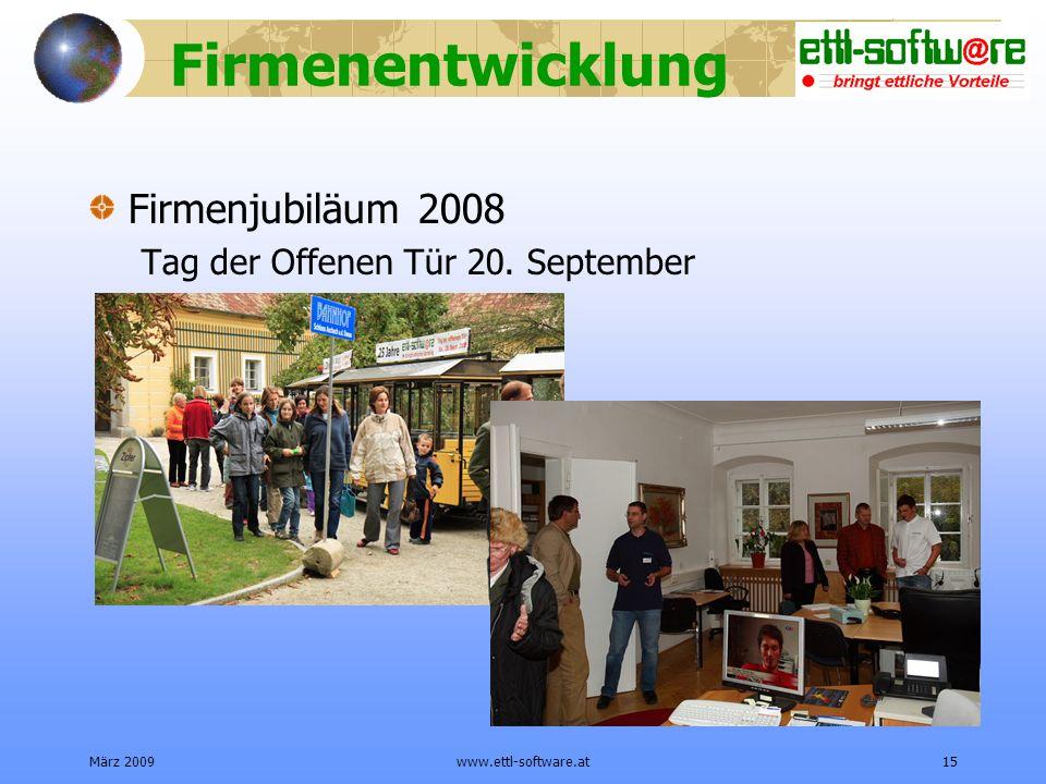 Firmenentwicklung Firmenjubiläum 2008
